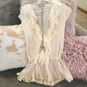 Gorgeous Ruffles and Lace Tunic